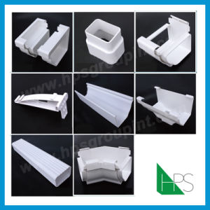 White and Black PVC Gutter Water Collector pictures & photos