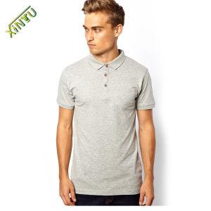 High Quality Grey 100%Cotton Men Polo Shirts pictures & photos