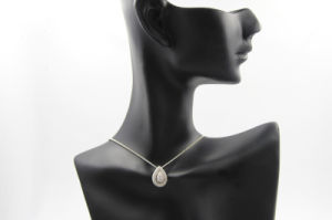 Water Drop Shaped with CZ Copper Necklace (NJB_0123)