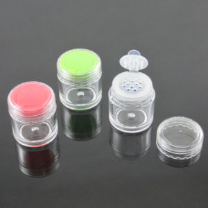 Small Size Plastic Jar for Cosmetics Glitter Powder (TM-ES6130D)