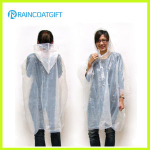 Promotional Disposable Clear PE Rainwear pictures & photos