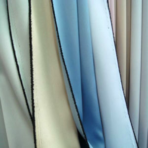 Blackout Curtain Fabric Double Satin with Black Yarn in Middle and 3 Layers Weaving