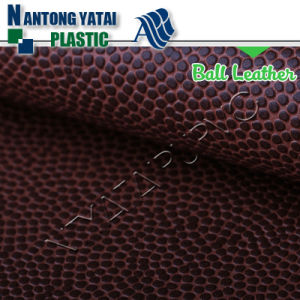 Hot Selling Embossed PU Leather Synthetic Leather for Basketball pictures & photos