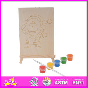 2014 New Play Kids Wooden Toy for Painting, Popular DIY Children Toy for Painting Set, Educational Baby Toy for Painting W03A046 pictures & photos