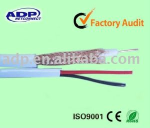 Copper Conductor PVC Jacket Rg59+2core Power Cable pictures & photos