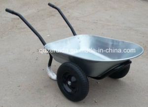 Manufacturer Supply Double Wheels Wheelbarrow for European Market (WB6406) pictures & photos
