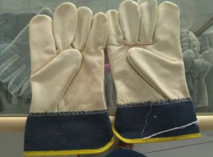Cow Leather Driving Leather Glove Industrial Safety Working Glove pictures & photos
