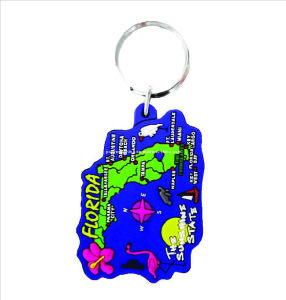 Souvenir Rubber Keyring with Map, Souvenir Rubber Keyring Promotion Gifts pictures & photos