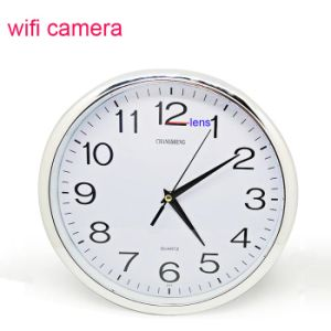 Home Security Digital Wireless Full HD1080p Video Motion Detection Mini Alarm WiFi Wall Clock Camera