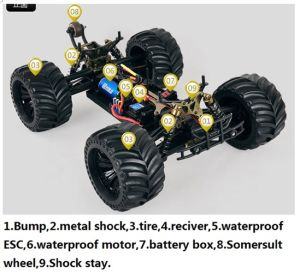1: 10 4WD 2.4G Electric Brushless RC Monster Truck pictures & photos
