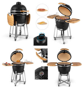 21′′ Kamado Ceramic Oven Egg Barbecue Grill