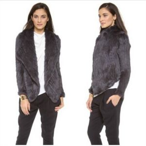 Yr-317 Women Real Knitted New Style Real Rabbit Fur Jacket / Real Fur Winter Coat Fashion pictures & photos