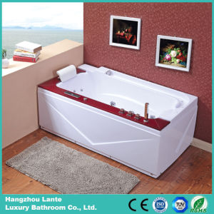 Corner Whirlpool Bathtub with Wood Panel (TLP-679-WOOD) pictures & photos