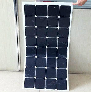 Thin Film Sunpower Cells 100watt Semi Flexible Solar Panel 18V pictures & photos