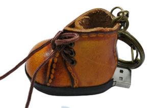 Shoes Shap Leather USB Flash Stick (PZE513) pictures & photos