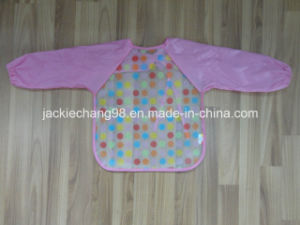 Printed Baby Bib with Sleeve in PEVA pictures & photos
