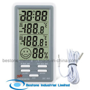 Hygro-Thermometer Clock with Indoor and Outdoor Temperature (DC803) pictures & photos