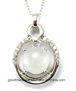 High Quality and Newly Fashion Pure 925 Sterling Silver Round Stone Pendant Wholesale P4993 pictures & photos