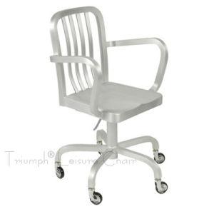 Navy Arm Revolving Chair (TRA010)