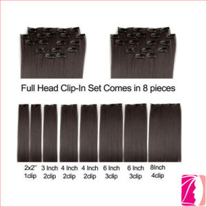 China 7A Quality Remy Weave Clip on Hair Extension