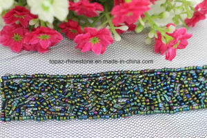 Rhinestone Seed Bead Neckline Collar Trim Border for Apparel (TA-032) pictures & photos