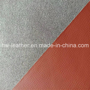 Microfiber PU Leather for Making Sofa Furniture Hw-235 pictures & photos
