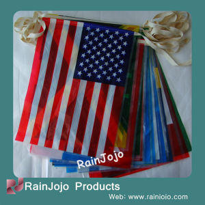 2014 Brazilian World Cup String Flags, USA Bunting Flag pictures & photos