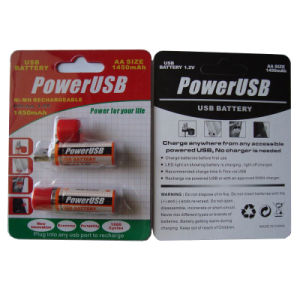 USB-AA 1450mAh Ni-MH Rechargeable Battery