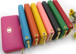 Newest Women Candy Color PU Leather Wallet