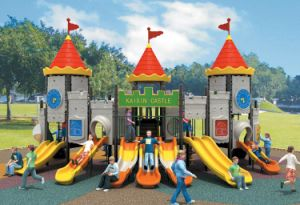 2014 New Style Castle Theme Outdoor Playground Plastic Slide pictures & photos