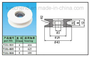 Ceramic Wire Guide Pulley with Bearing (TC01-1) Groove Winding Guide Roller pictures & photos