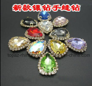 Colorful Pear Mounted Fancy Chaton Claw Sew on Rhinestone (SW-drop 13*18) pictures & photos
