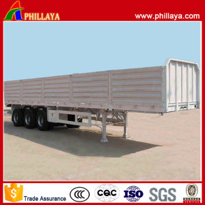 Flat Bed 3 Axles High Side Wall Open Semi Trailer pictures & photos