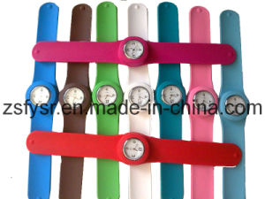 OEM Colorful Silicone Slap Watch (FY-571)