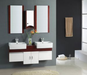 Bathroom Double Vanities on Bathroom Furniture    White Double Sink Luxury Bathroom Cabinet Vanity