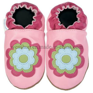 Flowers Pictures Baby Leather Shoes Ty7203 pictures & photos