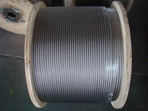 Hot Sale Elevator Steel Wire Rope, 6X19s (W) +FC, pictures & photos