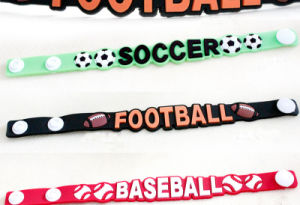 Sports Events Soft PVC Rubber Bracelet (BR011) pictures & photos
