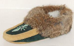 Sheepskin Slipper for Women and Girls MB50045W Tan&Black.