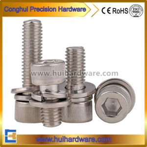 Stainless Steel Hex Socket Head Cap Sem Screw with Washer pictures & photos