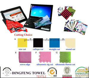 Microfiber Computer Cleaning Glasses Lens Kitchen Printed Cloth pictures & photos