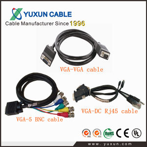High Quality HD 15pin Male to Male VGA Cable