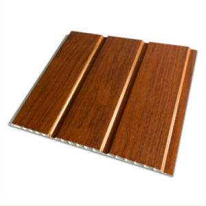 9*300mm Two Grooves Lamination Wall Panel PVC Panel for Interior Decoration pictures & photos