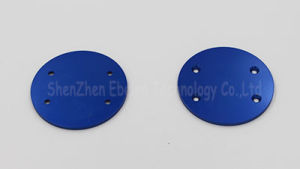 Industrial Machinery Spare Part Blue Round Plate CNC Machining pictures & photos