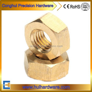 Machining Brass Hex Nuts, Copper Hexagon Nuts pictures & photos