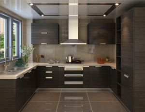 Economical Practical Wood Venner Kitchen Cabinet From China pictures & photos