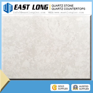 White Artifical Quartz Stone Countertops with Marble Vein pictures & photos