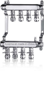 4-Branch Stainless Steel Manifold Set for Floor Heating System