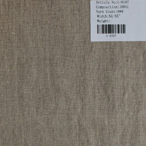 The Pure Linen Fabric L-0107 pictures & photos