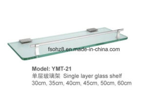 Space Saving Stainless Steel Bathroom Glass Shelf (YMT-21) pictures & photos